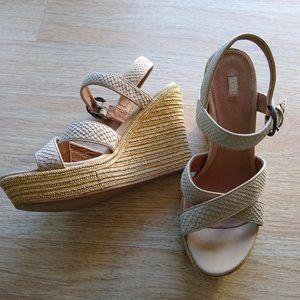 UGG Jackilyn Leather Espadrille Wedge Sandals